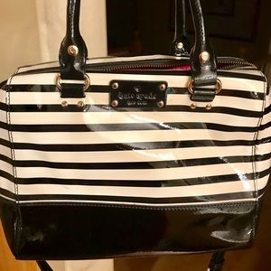 Kate Spade Small B&W Patent Leather Purse